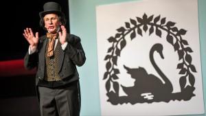 Henrik Koefoed som HC Andersen (foto: Odense Sommerrevy)