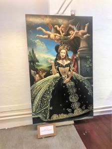 Helger, malet af Kristoffer Aggesen, der ikke i sin begejstring sparer på symbolikken