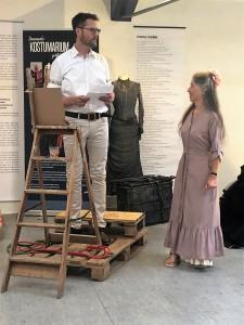 Thomas  Sjølander og Anne Marie Helger ved åbningen af Kostumariet