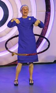 Kim Hammelsvang som Dronning Margrethe (foto: Emil Andresen).